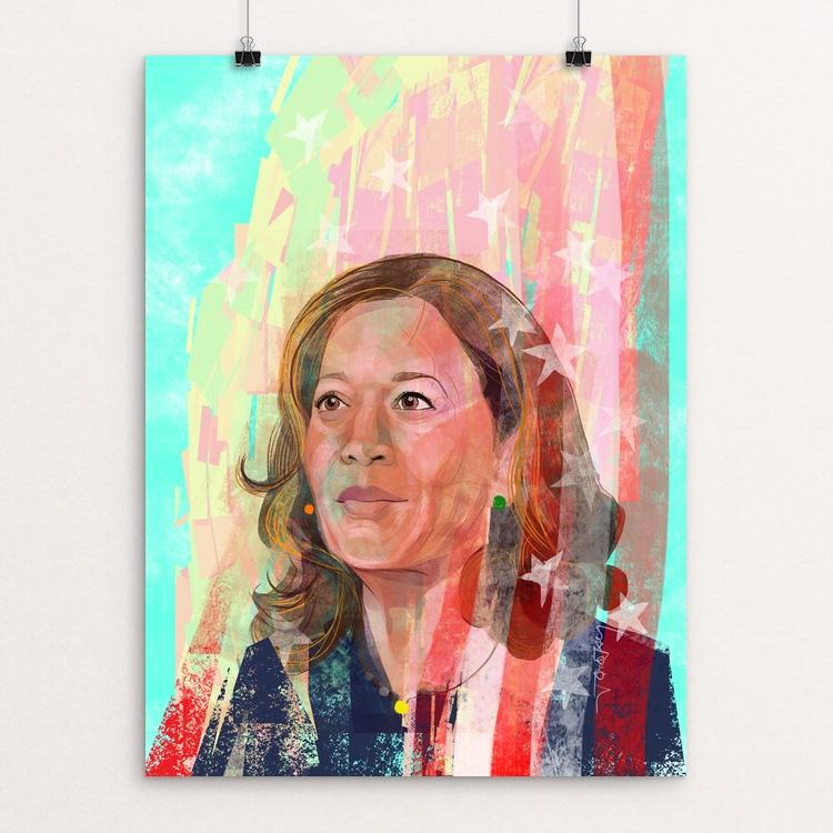 "Senator Kamala Harris by Gemma Cirignano 18"" by 24"" Print / Unframed Print Creative Action Network"