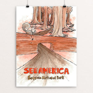 "Sequoia National Park by Wendy Kou 12"" by 16"" Print / Unframed Print See America"