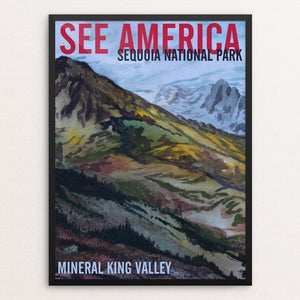 "Sequoia National Park -- Mineral King by Bruce and Scott Sink 12"" by 16"" Print / Framed Print See America"