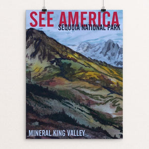 "Sequoia National Park -- Mineral King by Bruce and Scott Sink 12"" by 16"" Print / Unframed Print See America"