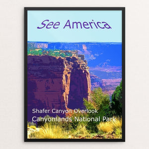 Shafer Canyon, Canyonlands National Park by Rodney Buxton