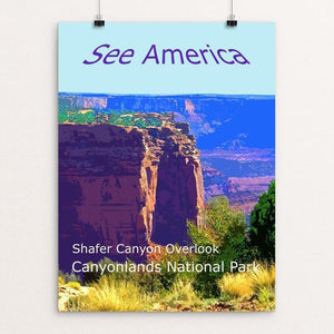 "Shafer Canyon, Canyonlands National Park by Rodney Buxton 12"" by 16"" Print / Unframed Print See America"