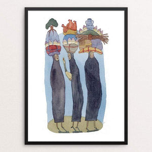 "She Carried the World on Her Shoulders by Yaara Eshet 18"" by 24"" Print / Framed Print Creative Action Network"