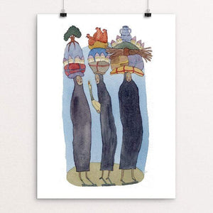 "She Carried the World on Her Shoulders by Yaara Eshet 18"" by 24"" Print / Unframed Print Creative Action Network"