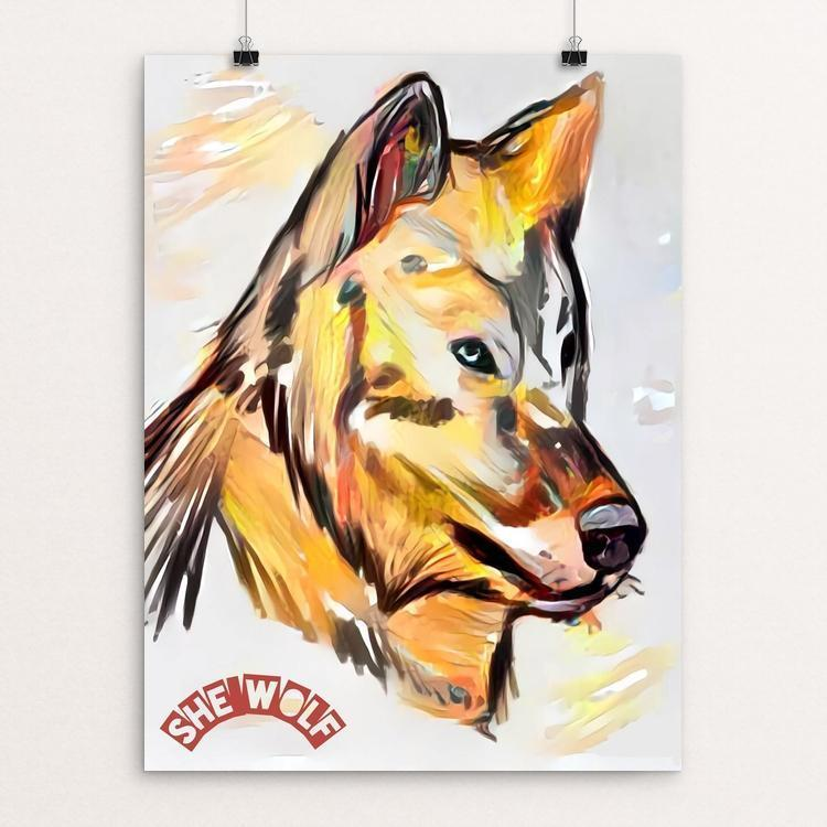 "She Wolf by Bryan Bromstrup 12"" by 16"" Print / Unframed Print Join the Pack"