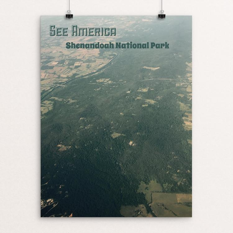"Shenandoah Aerial by Bryan Bromstrup 12"" by 16"" Print / Unframed Print See America"