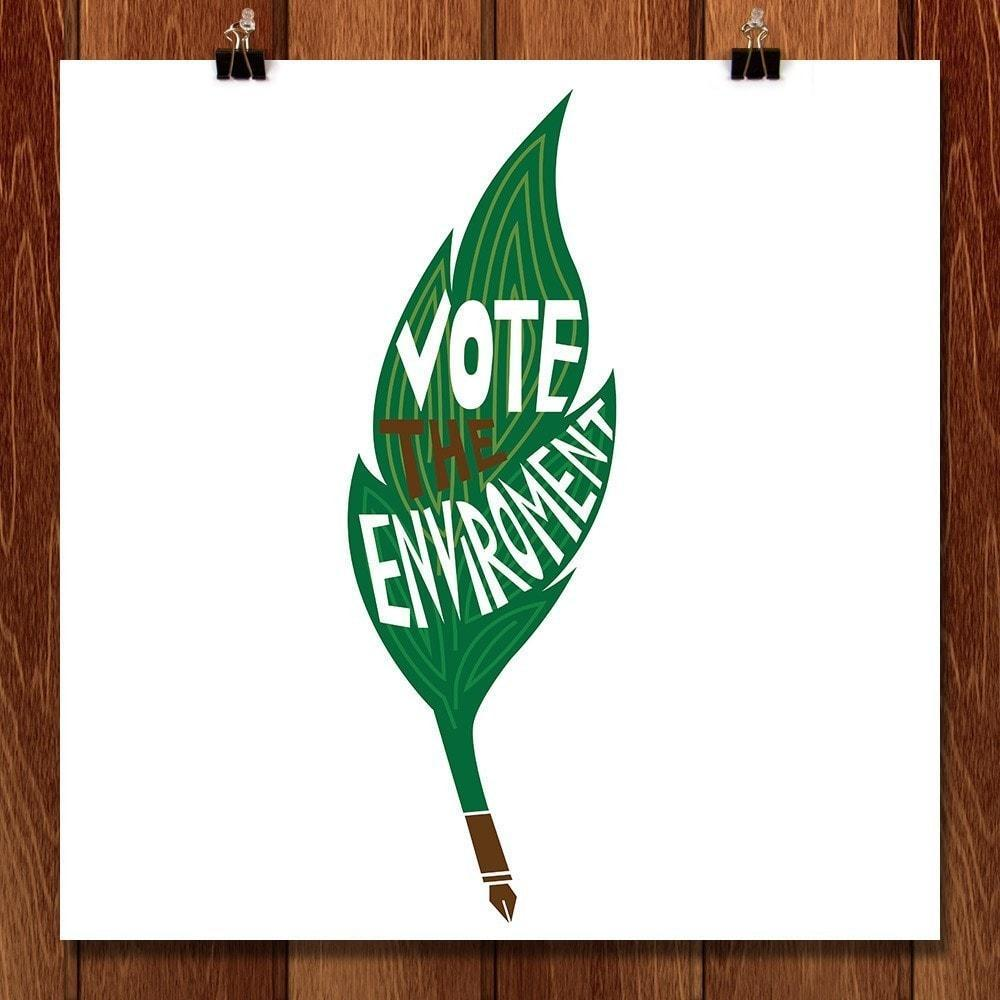 "Sign on, Vote the Environment by Miriam Subbiah 12"" by 12"" Print / Unframed Print Vote the Environment"