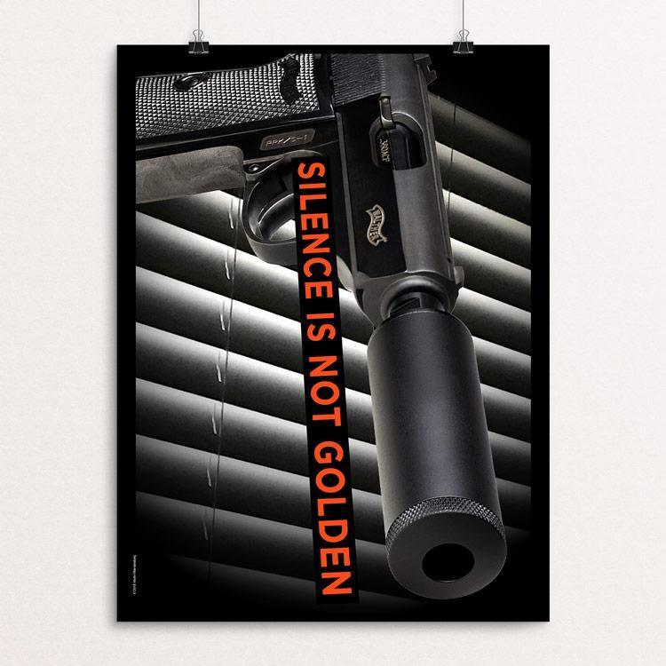 "Silence Is Not Golden by Martin Mendelsberg 12"" by 16"" Print / Unframed Print The Gun Show"