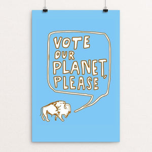 "Sincerely, Mr. Buffalo #2 by Orion Pahl 12"" by 18"" Print / Unframed Print Vote Our Planet"