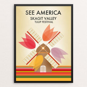 "Skagit Valley Tulip Festival by Pani Fuladvand 12"" by 16"" Print / Framed Print See America"