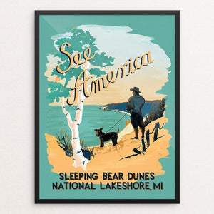 "Sleeping Bear Dunes National Lakeshore by Esther Licata 18"" by 24"" Print / Framed Print See America"