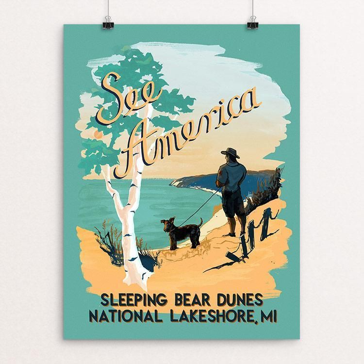 "Sleeping Bear Dunes National Lakeshore by Esther Licata 18"" by 24"" Print / Unframed Print See America"