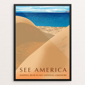 "Sleeping Bear Dunes National Lakeshore by Mark Forton 12"" by 16"" Print / Framed Print See America"