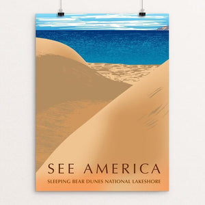 "Sleeping Bear Dunes National Lakeshore by Mark Forton 12"" by 16"" Print / Unframed Print See America"