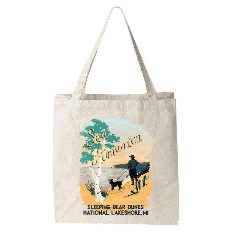Sleeping Bear Dunes National Lakeshore Tote Bag by Esther Licata Tote Bag See America