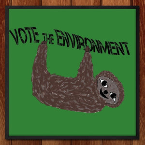 "Sloth by McKenzie Heras 12"" by 12"" Print / Framed Print Vote the Environment"