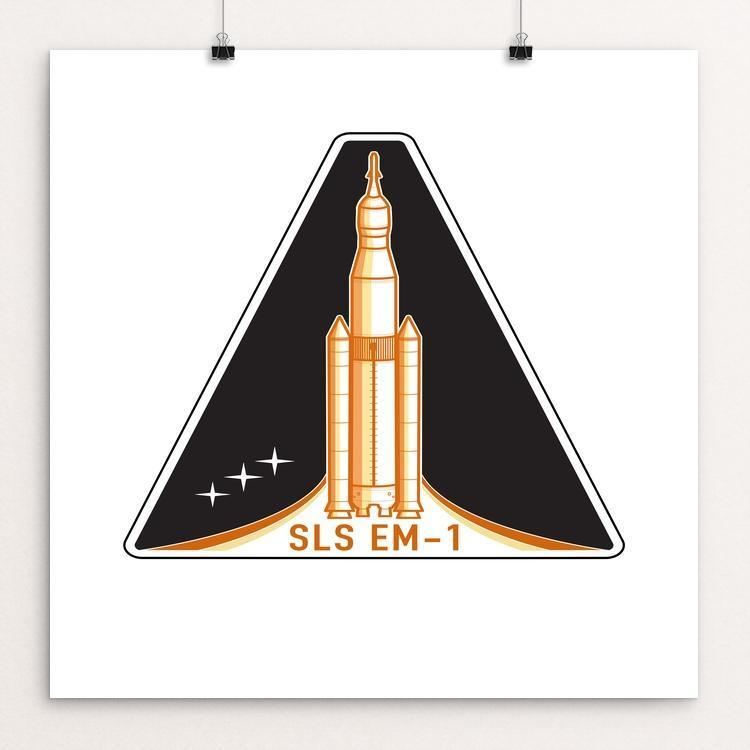 "SLS EM-1 by Tom Horwood-Luscombe 12"" by 12"" Print / Unframed Print Space Horizons"