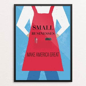 "Small Businesses by Jonathan Garbett 12"" by 16"" Print / Framed Print What Makes America Great"