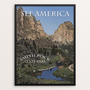 "Smith Rock State Park by Marcia Brandes 12"" by 16"" Print / Framed Print See America"
