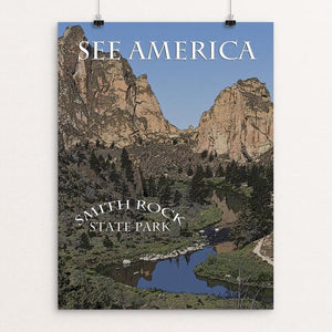 "Smith Rock State Park by Marcia Brandes 12"" by 16"" Print / Unframed Print See America"