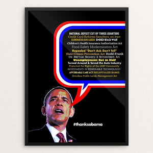 "So Much To Do, So Little Time. by BOB RUBIN 12"" by 16"" Print / Framed Print Design For Obama"