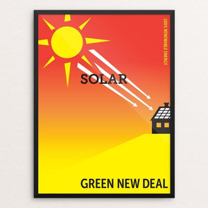 "Solar by Darren Krische 12"" by 16"" Print / Framed Print Green New Deal"