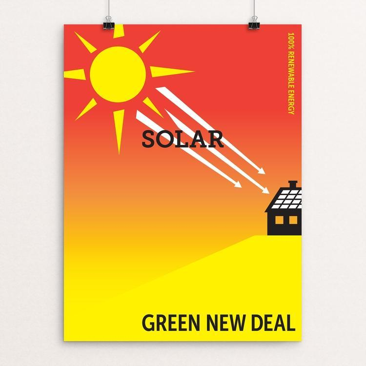"Solar by Darren Krische 12"" by 16"" Print / Unframed Print Green New Deal"