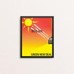 "Solar by Darren Krische 8"" by 10"" Print / Framed Print Green New Deal"