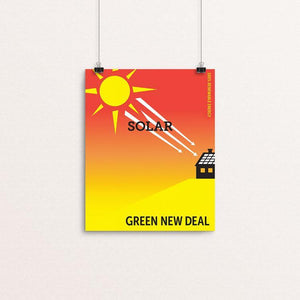 "Solar by Darren Krische 8"" by 10"" Print / Unframed Print Green New Deal"