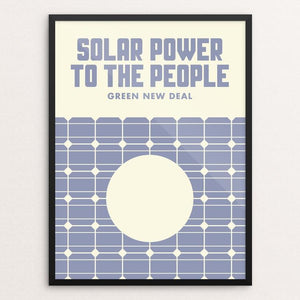"Solar Power To The People by Mister Furious 12"" by 16"" Print / Framed Print Green New Deal"