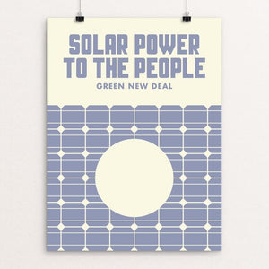 "Solar Power To The People by Mister Furious 12"" by 16"" Print / Unframed Print Green New Deal"