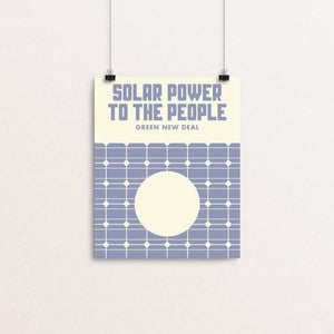 "Solar Power To The People by Mister Furious 8"" by 10"" Print / Unframed Print Green New Deal"
