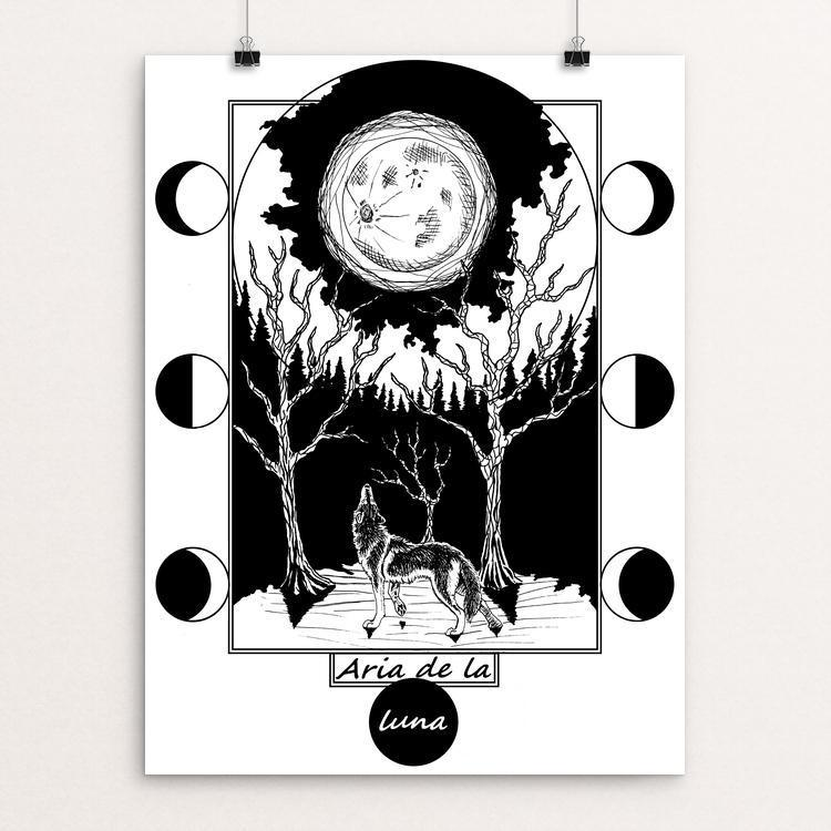"Song of the moon by Autumn Beverly 18"" by 24"" Print / Unframed Print Join the Pack"