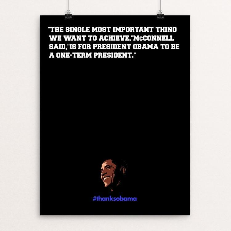 "Sorry Mitch. It didn't work. by BOB RUBIN 12"" by 16"" Print / Unframed Print Design For Obama"