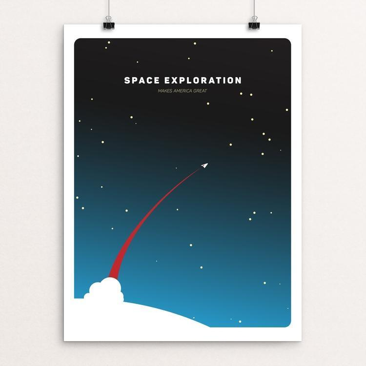 "Space Exploration by Design by Goats 12"" by 16"" Print / Unframed Print What Makes America Great"