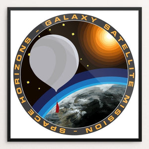 "Space Horizon's First Satellite Launch by Susanne Arens 12"" by 12"" Print / Framed Print Space Horizons"