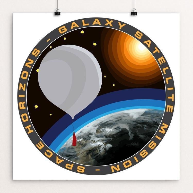 "Space Horizon's First Satellite Launch by Susanne Arens 12"" by 12"" Print / Unframed Print Space Horizons"