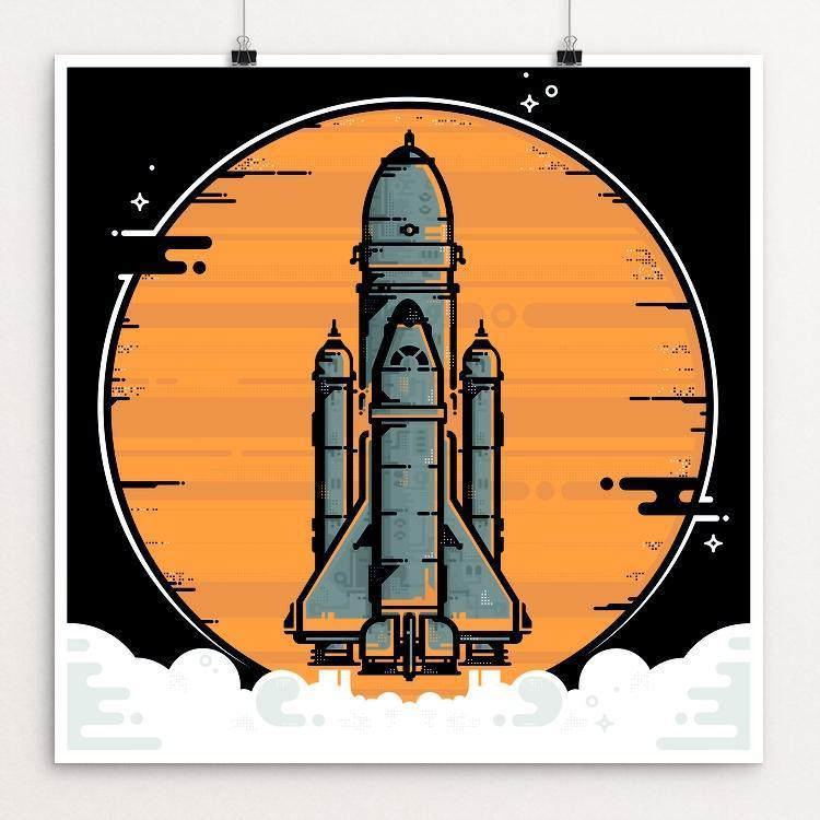 "Space Mission by Alex Stany 12"" by 12"" Print / Unframed Print Space Horizons"