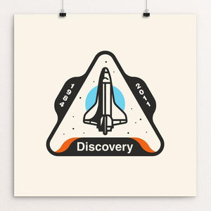"Space Shuttle Discovery by Austin Remer 12"" by 12"" Print / Unframed Print Space Horizons"
