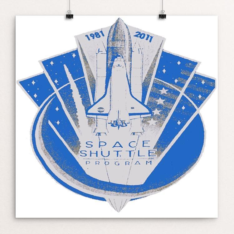 "Space Shuttle Program Patch by Bryan Bromstrup 12"" by 12"" Print / Unframed Print Space Horizons"