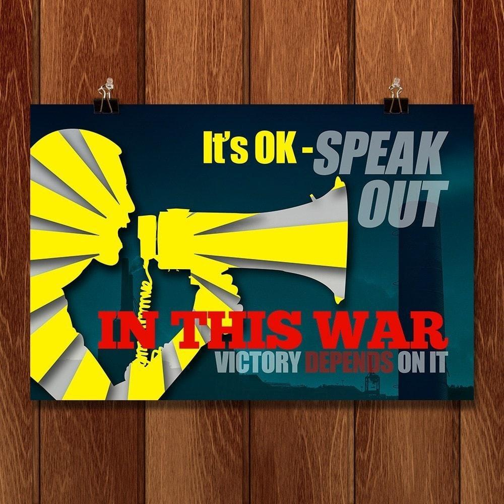 "Speak Out For Victory by E. Michelle Peterson 18"" by 12"" Print / Unframed Print Climate Victory"