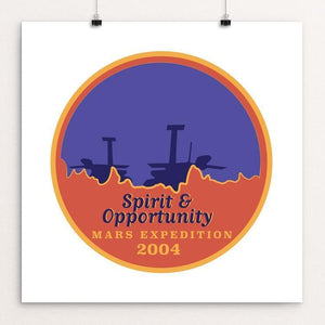 "Spirit and Opportunity by Lauren Wagner 12"" by 12"" Print / Unframed Print Space Horizons"