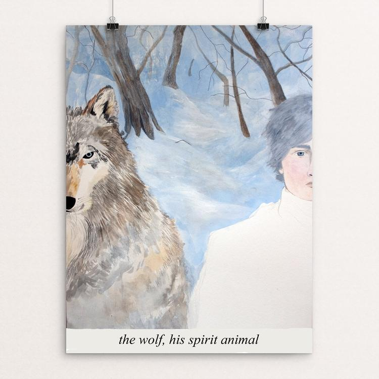 "Spirit Animal by Jennifer Gibson 12"" by 16"" Print / Unframed Print Join the Pack"