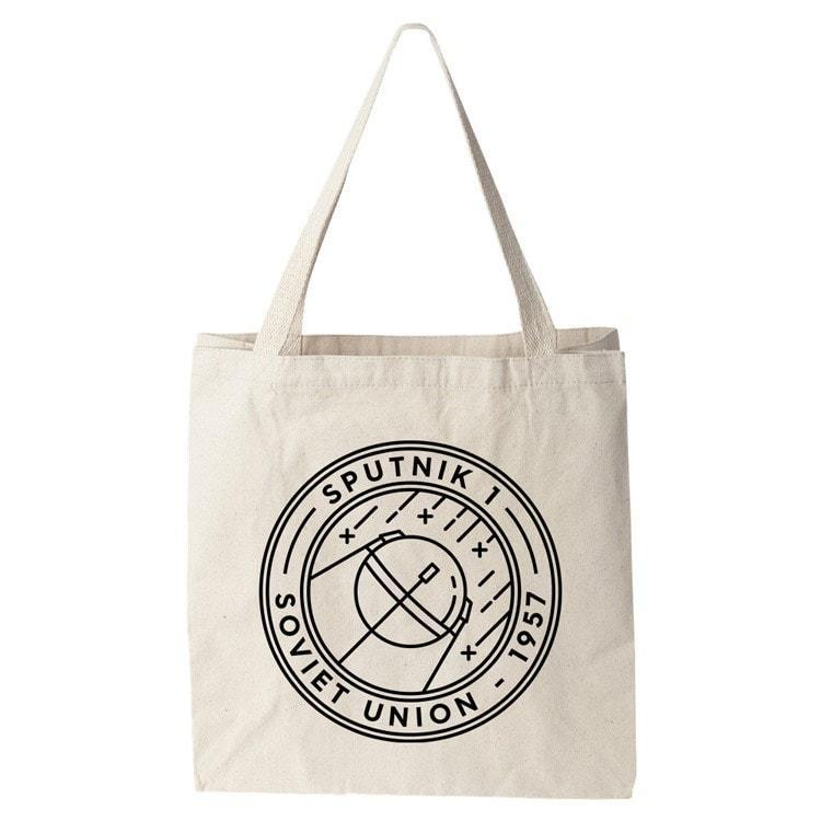 Sputnik 1 Tote Bag by Furr Tote Bag Space Horizons