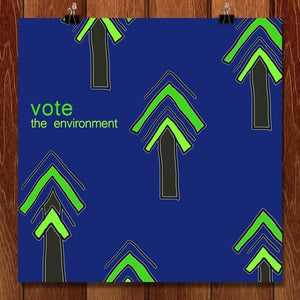 "Stand Tall and Vote by Amanda Pulawski 12"" by 12"" Print / Unframed Print Vote the Environment"