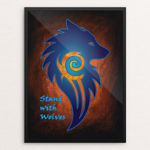 "Stand with Wolves by Sarah Matthews 12"" by 16"" Print / Framed Print Join the Pack"