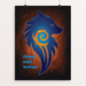 "Stand with Wolves by Sarah Matthews 12"" by 16"" Print / Unframed Print Join the Pack"