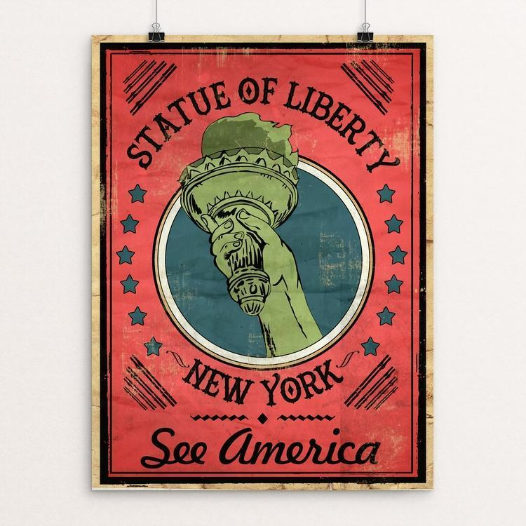 "Statue of Liberty National Monument by David Garcia 12"" by 16"" Print / Unframed Print See America"