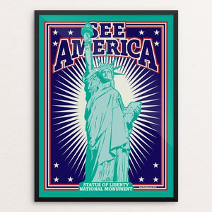 "Statue of Liberty National Monument by Don Henderson 12"" by 16"" Print / Framed Print See America"