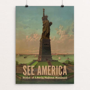 "Statue Of Liberty National Monument by Ike Loveland 12"" by 16"" Print / Unframed Print See America"